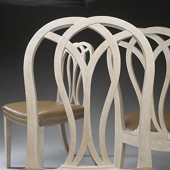 Dining chairs, set of ten by Wright