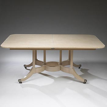 Dining table with five leaves