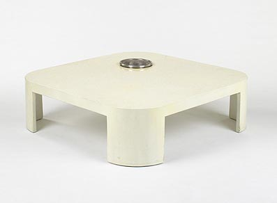 Coffee table with planter