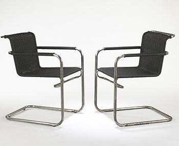 B33 chairs, pair