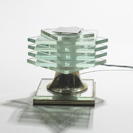 Plate glass lamp