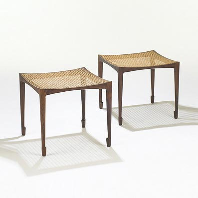 Stools, pair by Wright