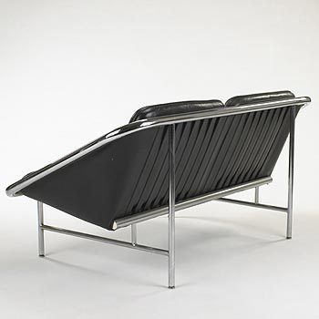 Sling settees, model no. 6381, pair by Wright
