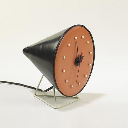Wright-Cone table clock, model no 2218
