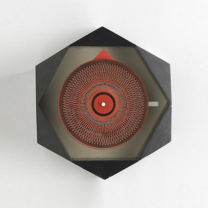 Hexagon wall clock, no. 2266