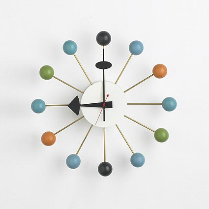 Multi-colored Ball clock, no. 4755 de Wright