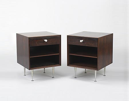 Thin Edge nightstands, pair by Wright