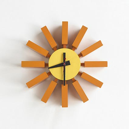 Tab wall clock, no. 2285 de Wright