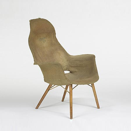 Organic Design High Back Armchair For Sale At Wright
