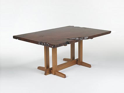 Custom redwood Conoid dining table