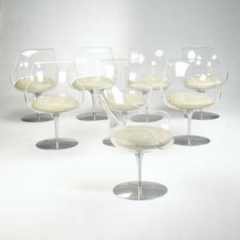 Champaign chairs, set of eight