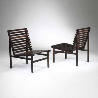 Rosewood lounge chairs, pair