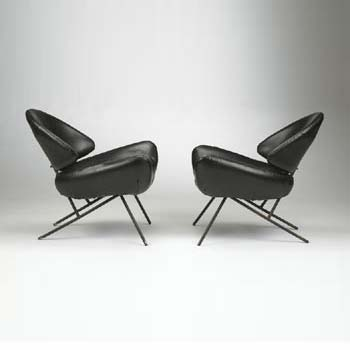 Lounge chairs, pair de Wright