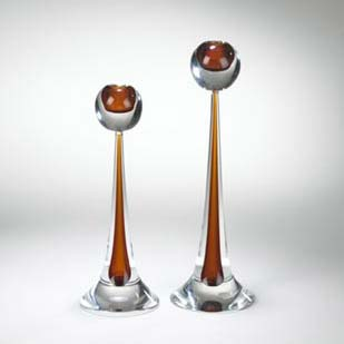 Sommerso candlesticks, pair