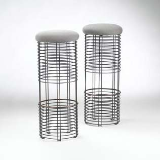Model no. 250S stools, pair