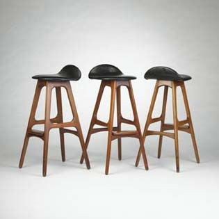 Bar stools, set of three