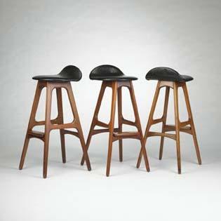Bar stools, set of three