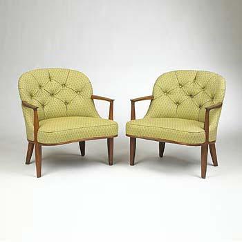 Wright-Janus lounge chairs, pair