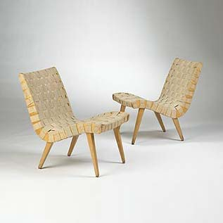 654L side chairs, pair de Wright