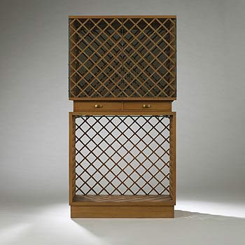 Vitrine for the VII Triennale by Wright