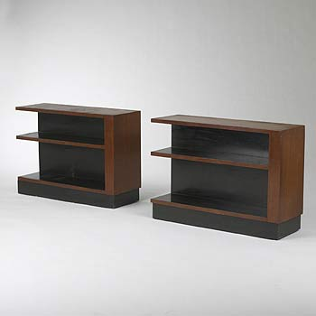 Bookshelves, pair