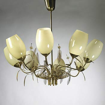 Eight arm chandelier