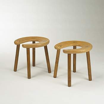 Sauna stools, pair
