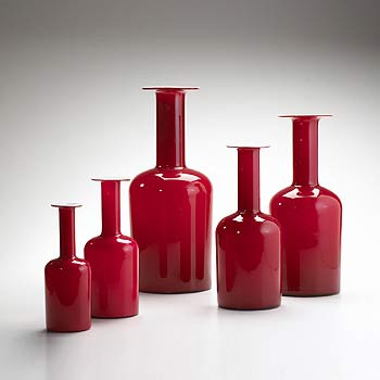 Vases, set of five