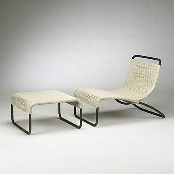 Lounge chair/ottoman, model 801/800