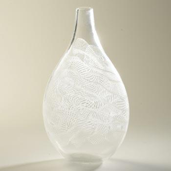 Latticino vase
