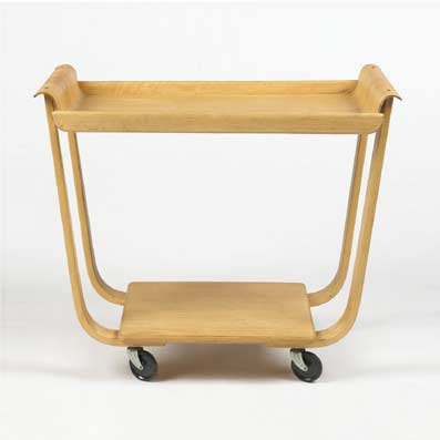 Rolo serving cart by Wright