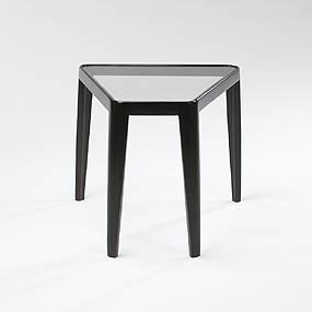 Wedge-Shaped end table by Wright