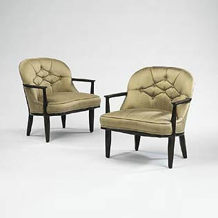 Janus armchairs, pair de Wright