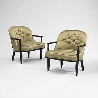 Wright-Janus armchairs, pair