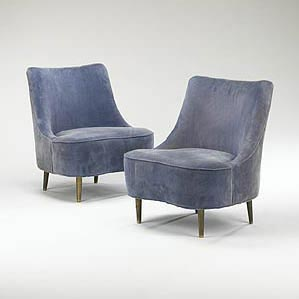 Wright-Tear Drop chairs, pair, model 5106