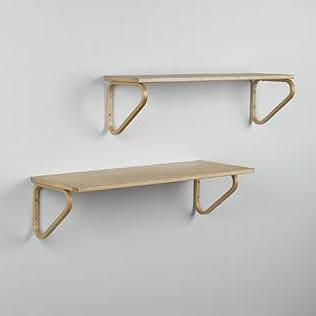 Wall shelves, pair