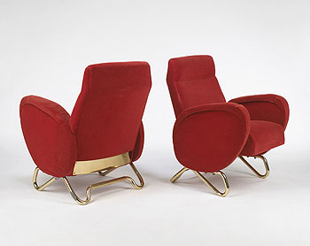 Armchairs (RAI Auditorium in Turin) by Wright