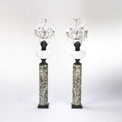 Moor floor lamps, pair by Wright