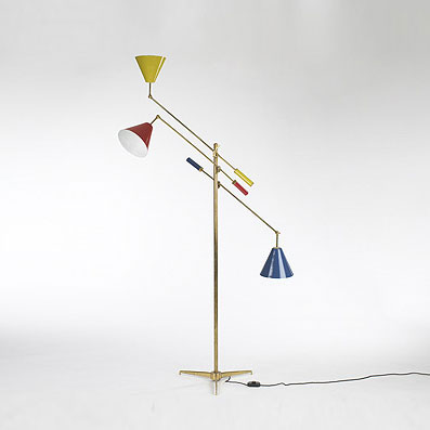 Three Arm floor lamp de Wright
