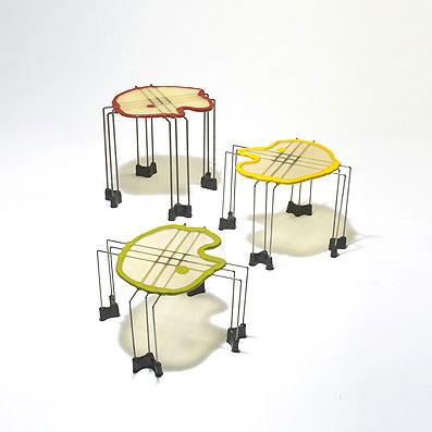 Triple Play nesting tables, set of three de Wright