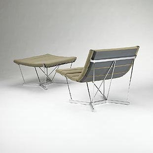 Catenary lounge chair/ottoman