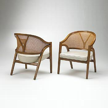 Cane back chairs by Wright