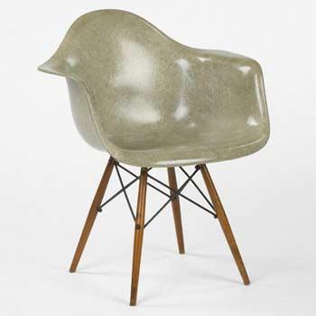 Dowel leg armchair