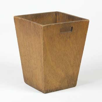 Usonian waste basket