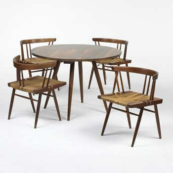 Grass Seated chairs/Turned-Leg table