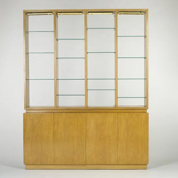 Through-view wall unit and secretary de Wright