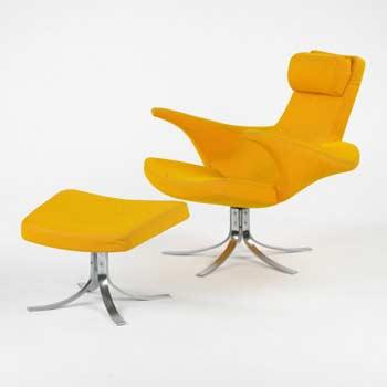 Seagull chair/ottoman