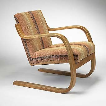 Low-back Cantilevered Armchair