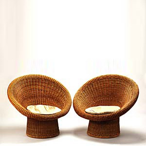 Wicker lounge chair 'E 10'