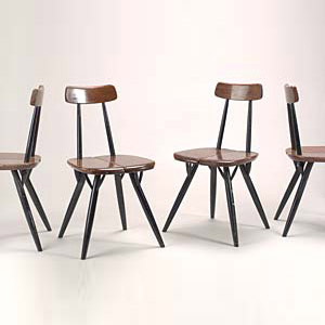 Pirkka wood chairs (4)